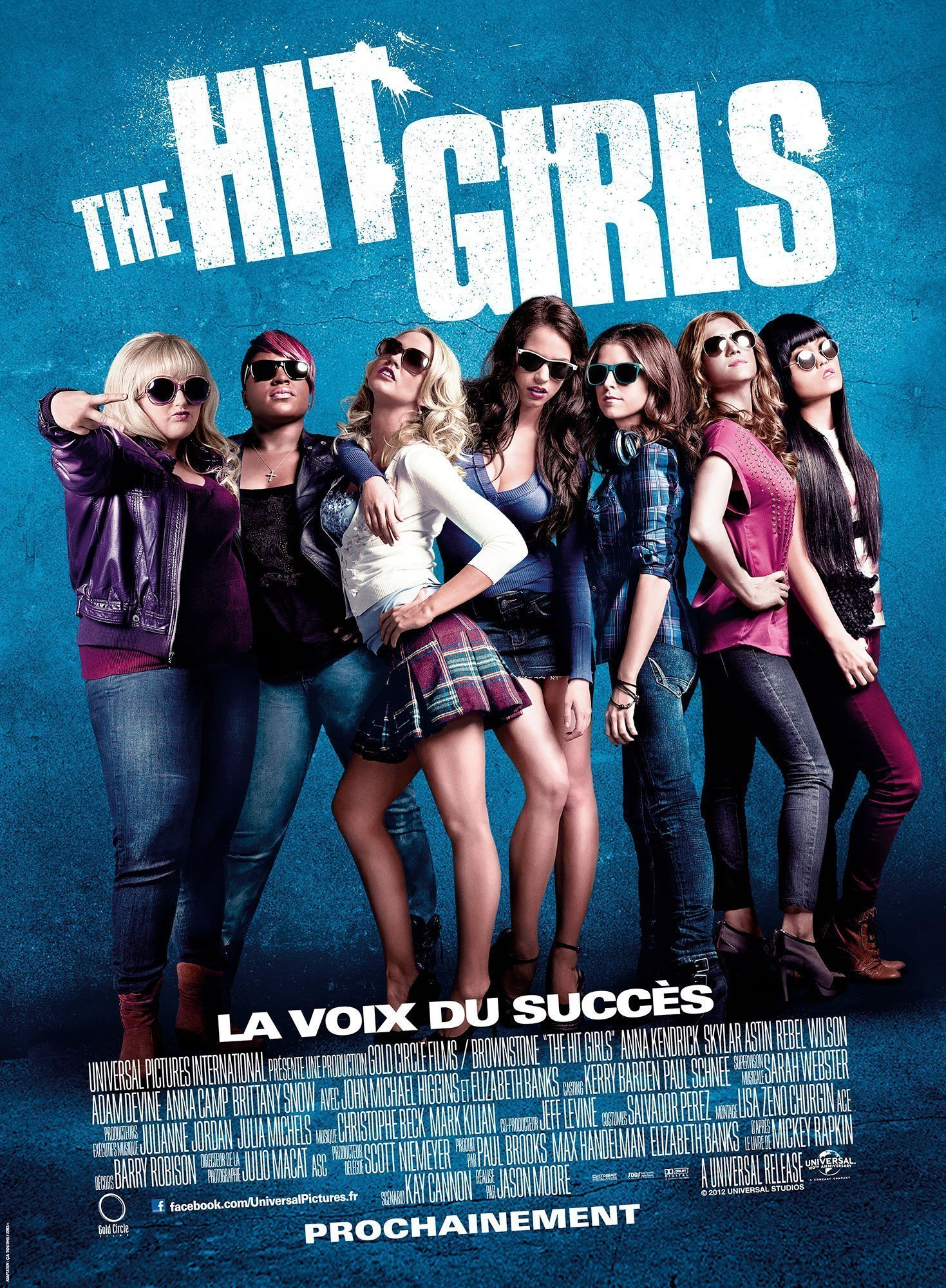 Affiche du film The Hit Girls réalisé par Jason Moore avec Anna Kendrick et Rebel Wilson