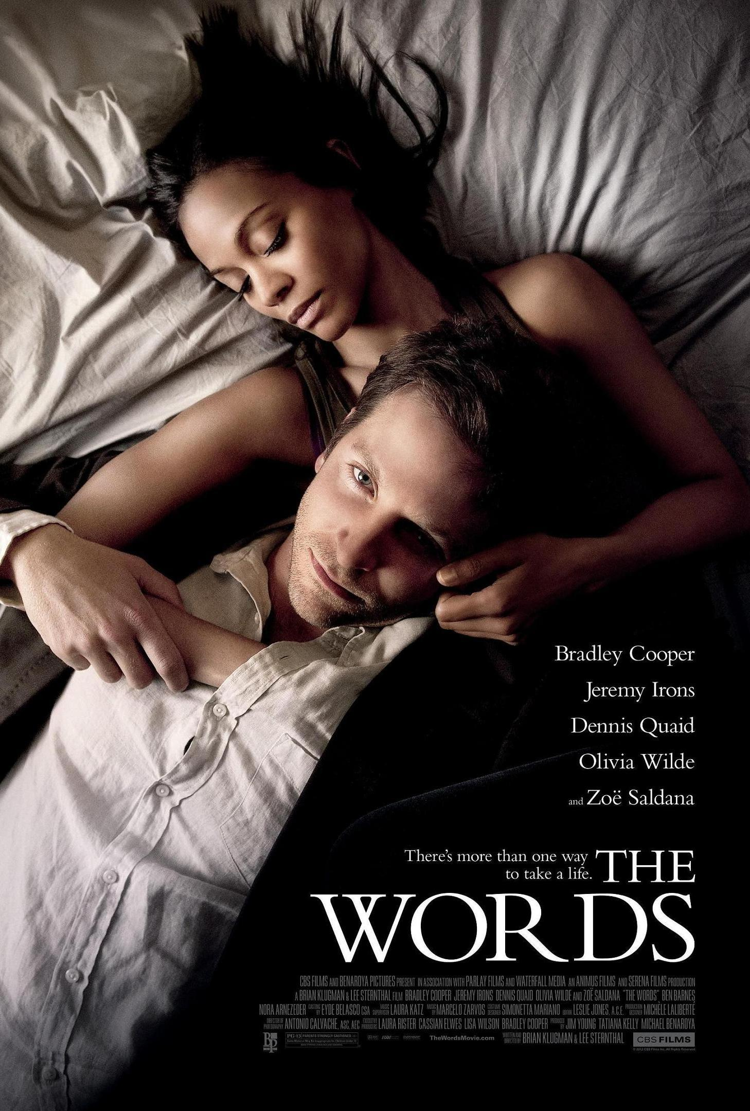 Poster du film The Words avec Bradley Cooper et Zoe Saldana