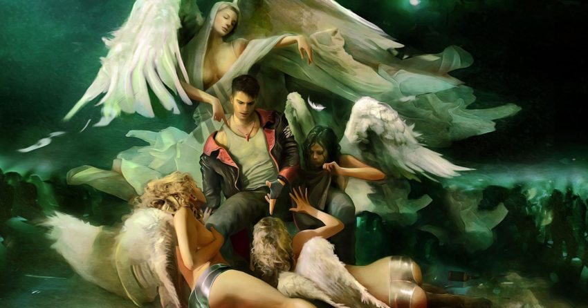Artwork de DmC Devil May Cry avec Dante et les Anges