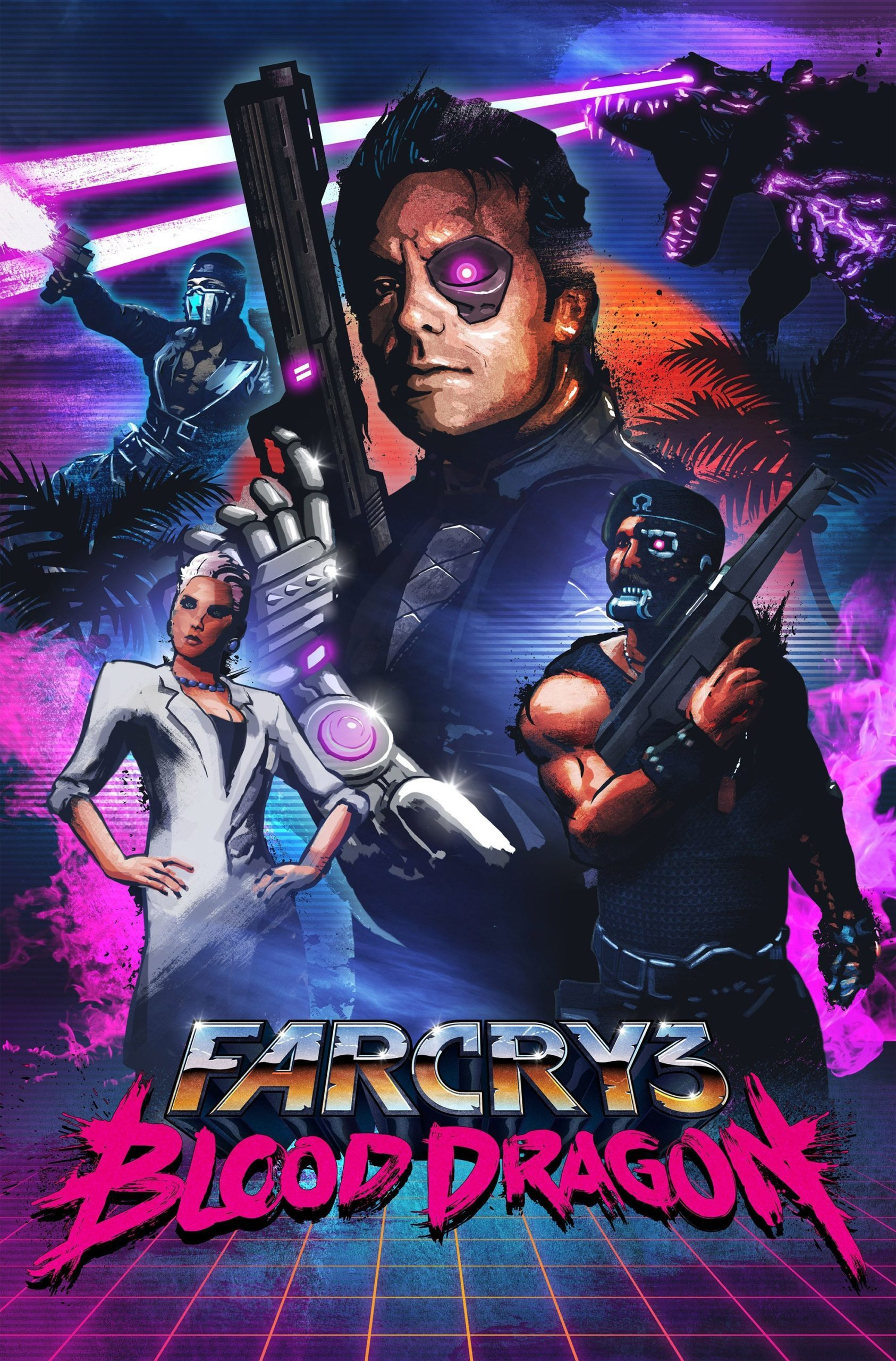 Poster du jeu vidéo Far Cry 3 : Blood Dragon