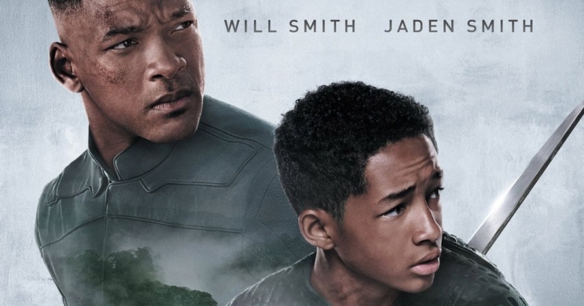 Affiche française du film After Earth réalisé par M. Night Shyamalan avec Will Smith (Cypher Raige) et Jaden Smith (Kitai Raige)
