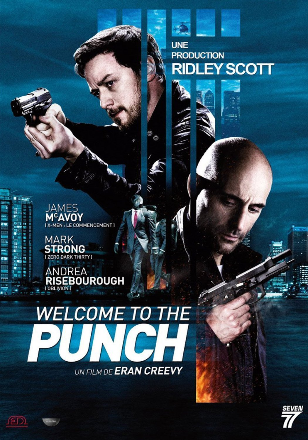 Affiche française du film Welcome to the Punch avec James McAvoy et Mark Strong