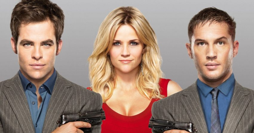 Bannière du film Target avec Tom Hardy, Chris Pine, Reese Witherspoon