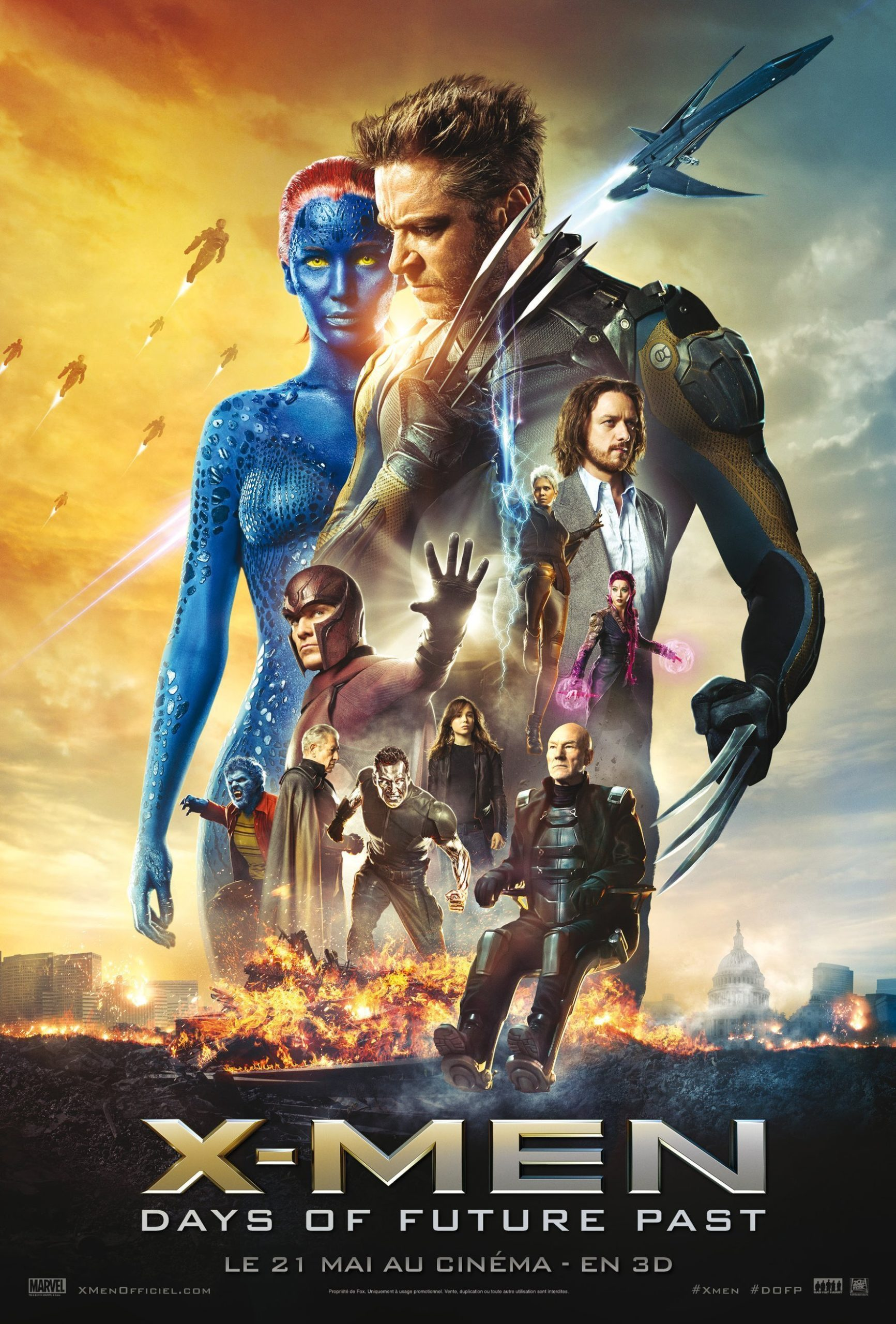 Affiche française finale du film X-Men: Days of Future Past