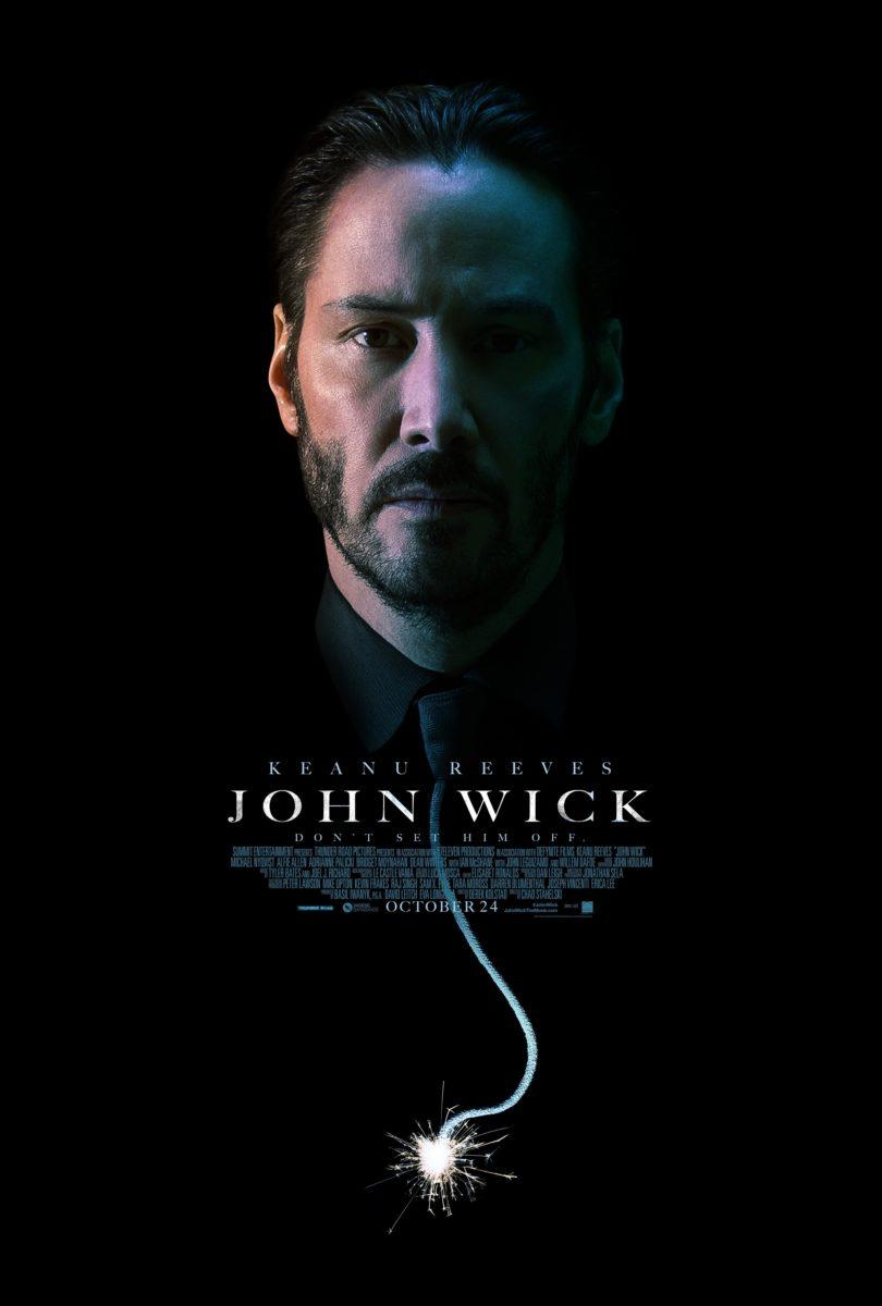 Poster du film John Wick réalisé par David Leitch et Chad Stahelski avec Keanu Reeves style dynamite