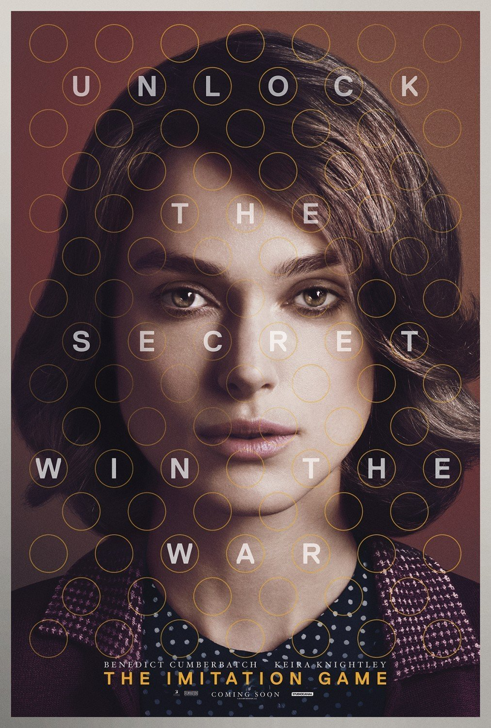 Poster d'Imitation Game avec Keira Knightley