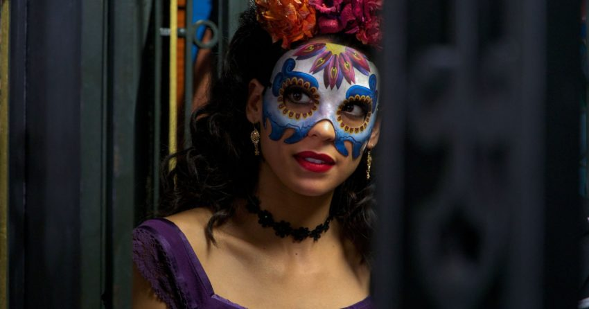 Photo d'un masque à Mexico du film Spectre réalisé par Sam Mendes