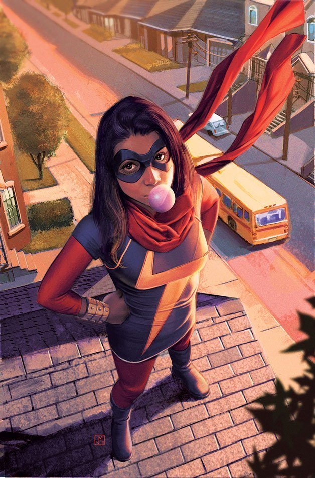 Couverture de Miss Marvel Vol 3 2 (Molina Variant)
