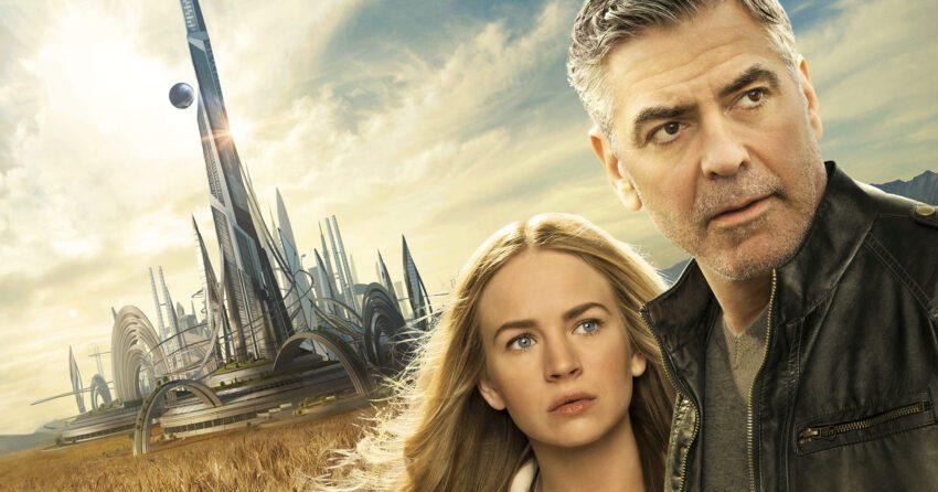Bannière du film À la poursuite de demain réalisé par Brad Bird avec Britt Robertson et George Clooney