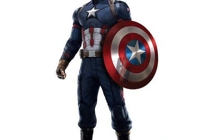 Concept Art pour le film Captain America: Civil War avec le nouveau costume de Captain America (Chris Evans)