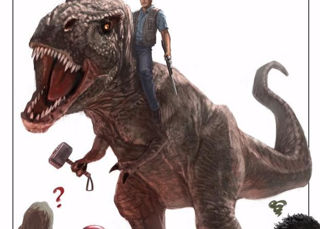 Concept-art d'Andy Park pour récompenser Jurassic World