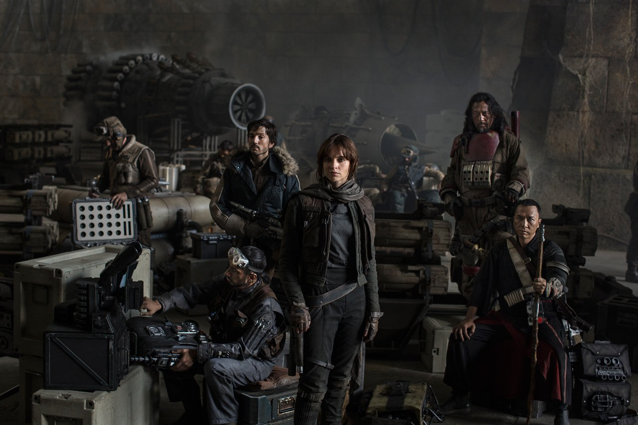 Photo du film Star Wars: Rogue One réalisé par Gareth Edwards, d'après un scénario de Chris Weitz, avec Felicity Jones