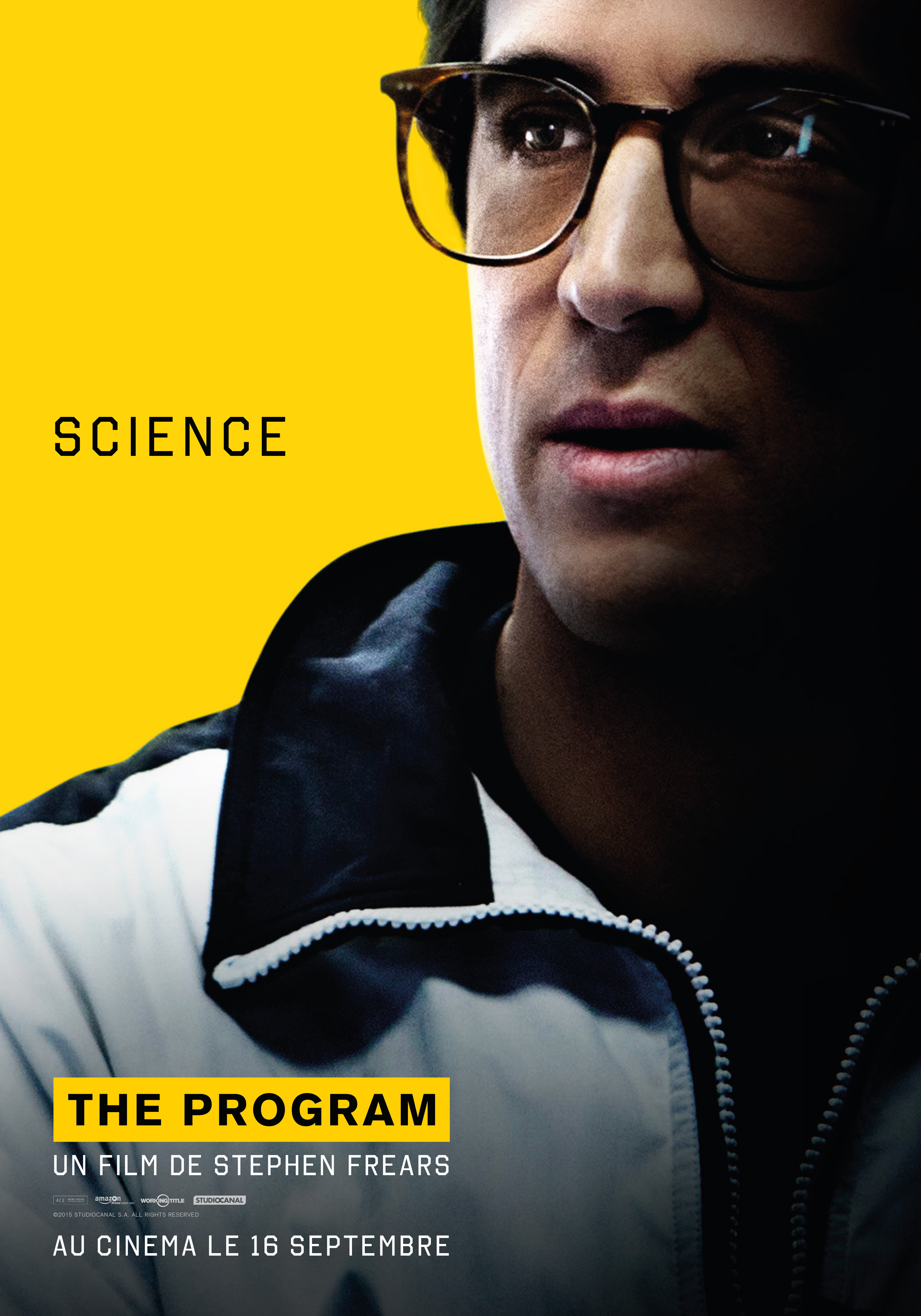 Affiche du film The Program réalisé par Stephen Frears avec Guillaume Canet.