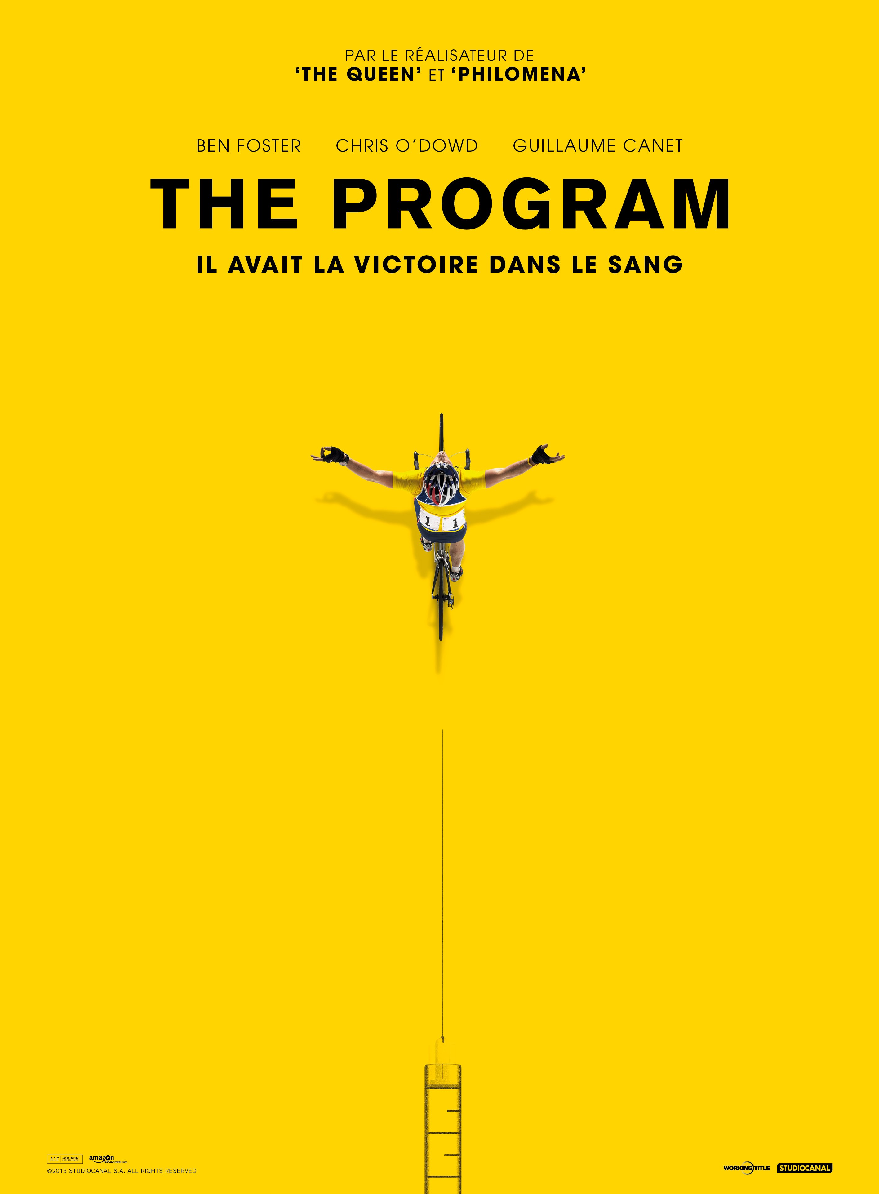 Affiche du film The Program réalisé par Stephen Frears