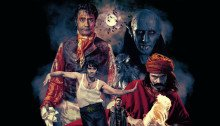 """Poster de What We Do in the Shadows avec la tagline """"Some interviews with some vampires"""""""