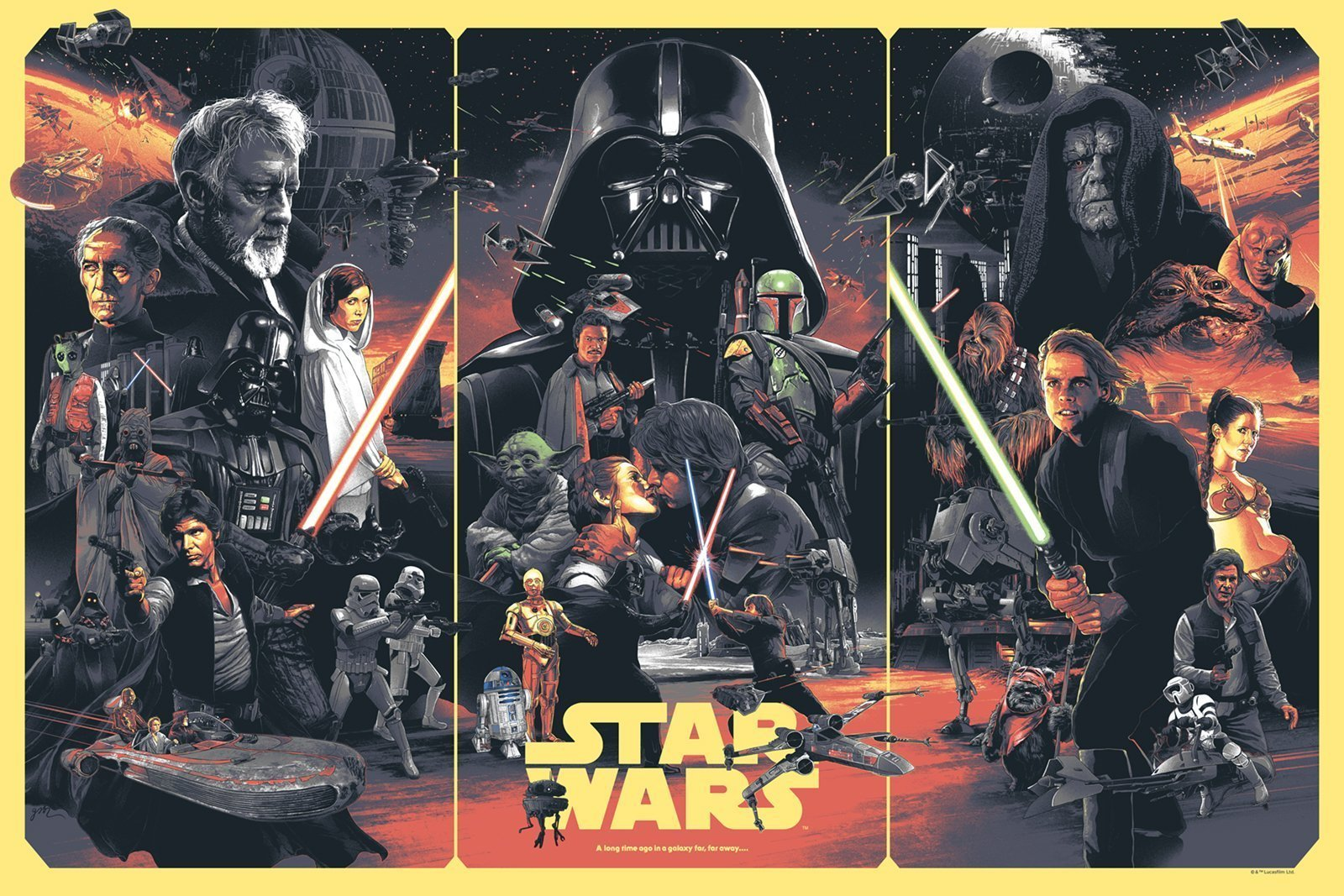 Version alternative du poster de Star Wars par Grzegorz Domaradzki