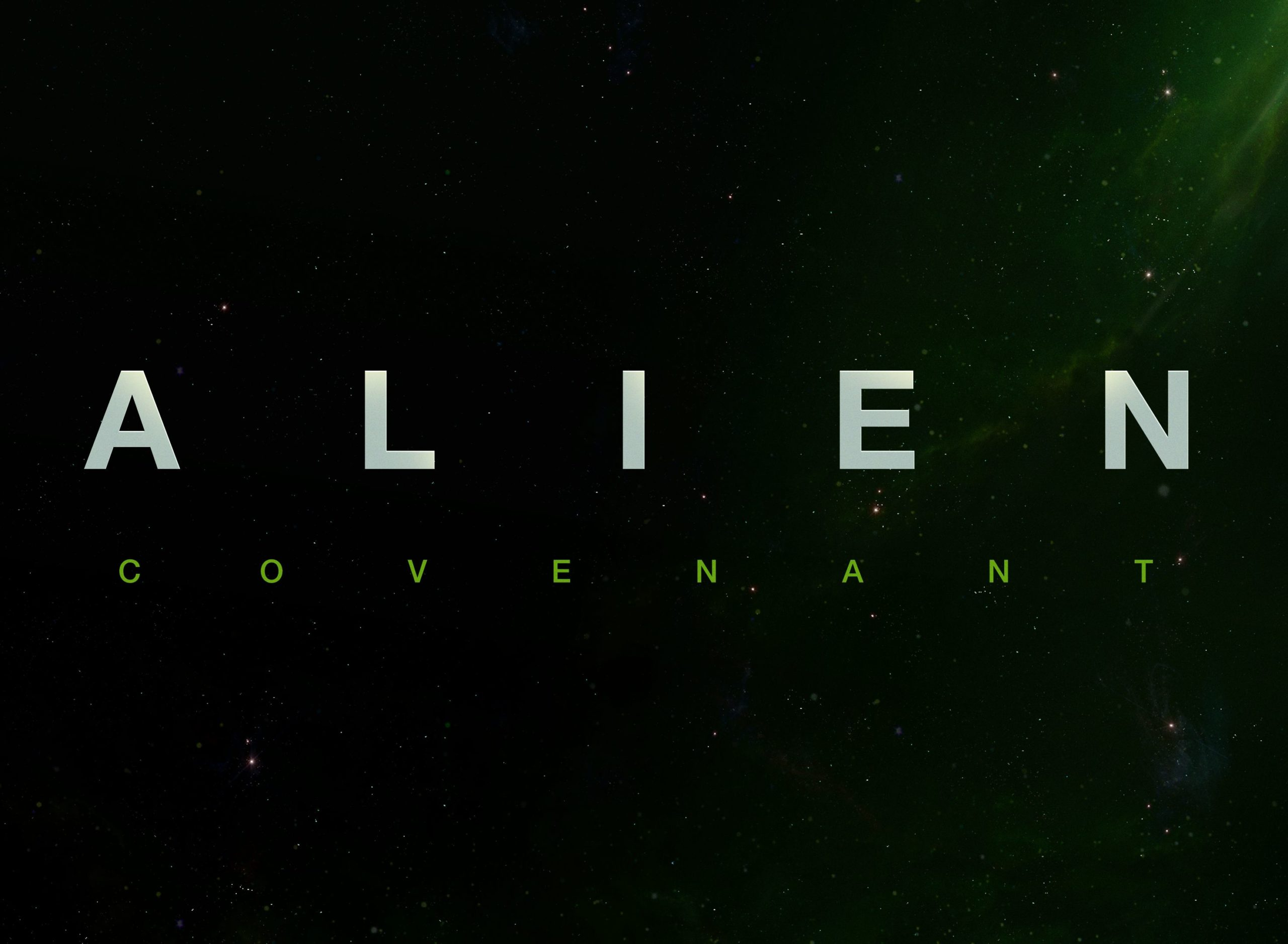 Logo du film Alien: Covenant réalisé par Ridley Scott avec Michael Fassbender (David et Walter), Katherine Waterston, Danny McBride (Tennessee), Billy Crudup (Christopher Oram), Demián Bichir (Lope)