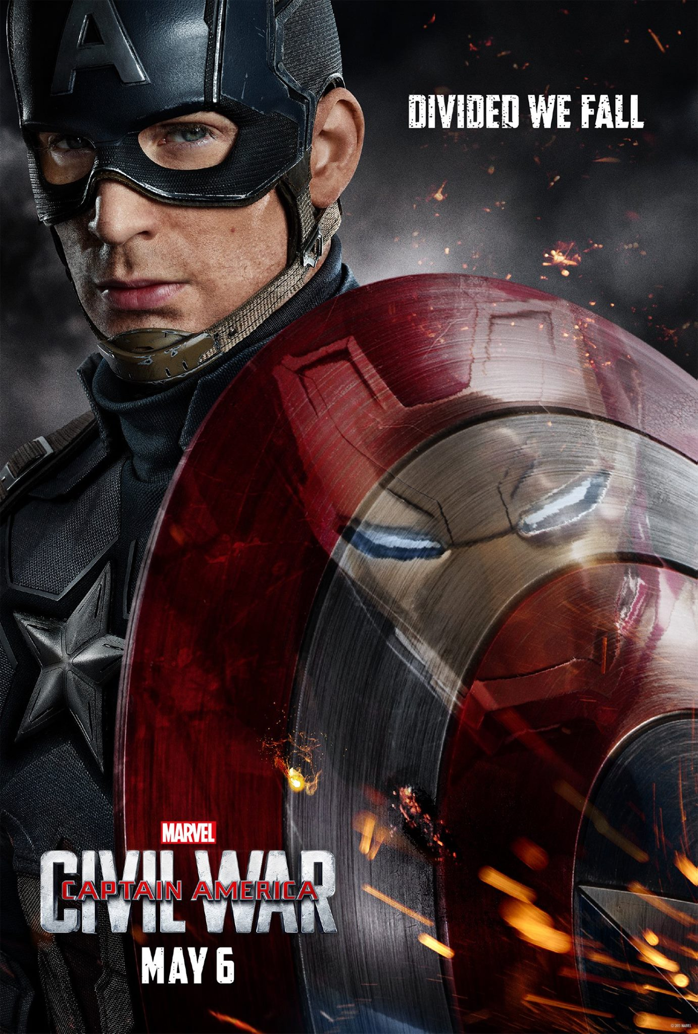 Poster de Captain America: Civil War réalisé avec Iron Man face à Captain America