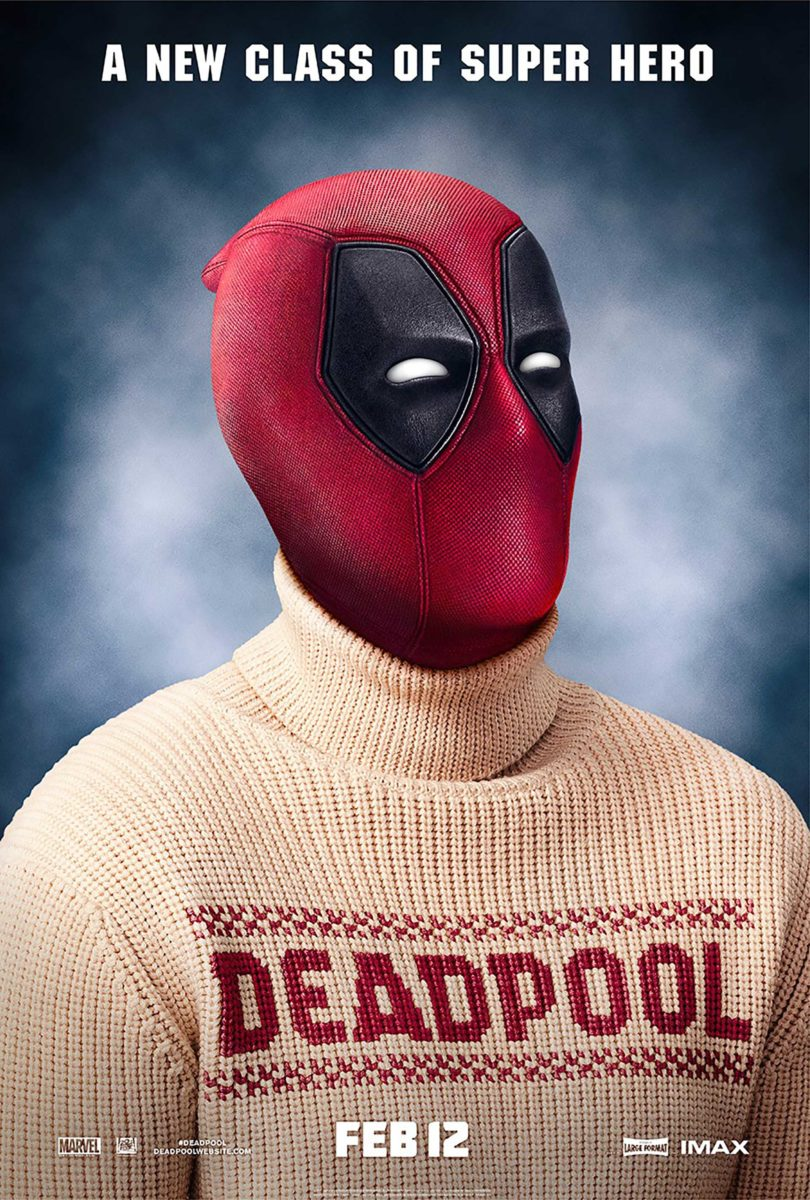 Poster du film Deadpool réalisé par Tim Miller avec la tagline A new class of super hero