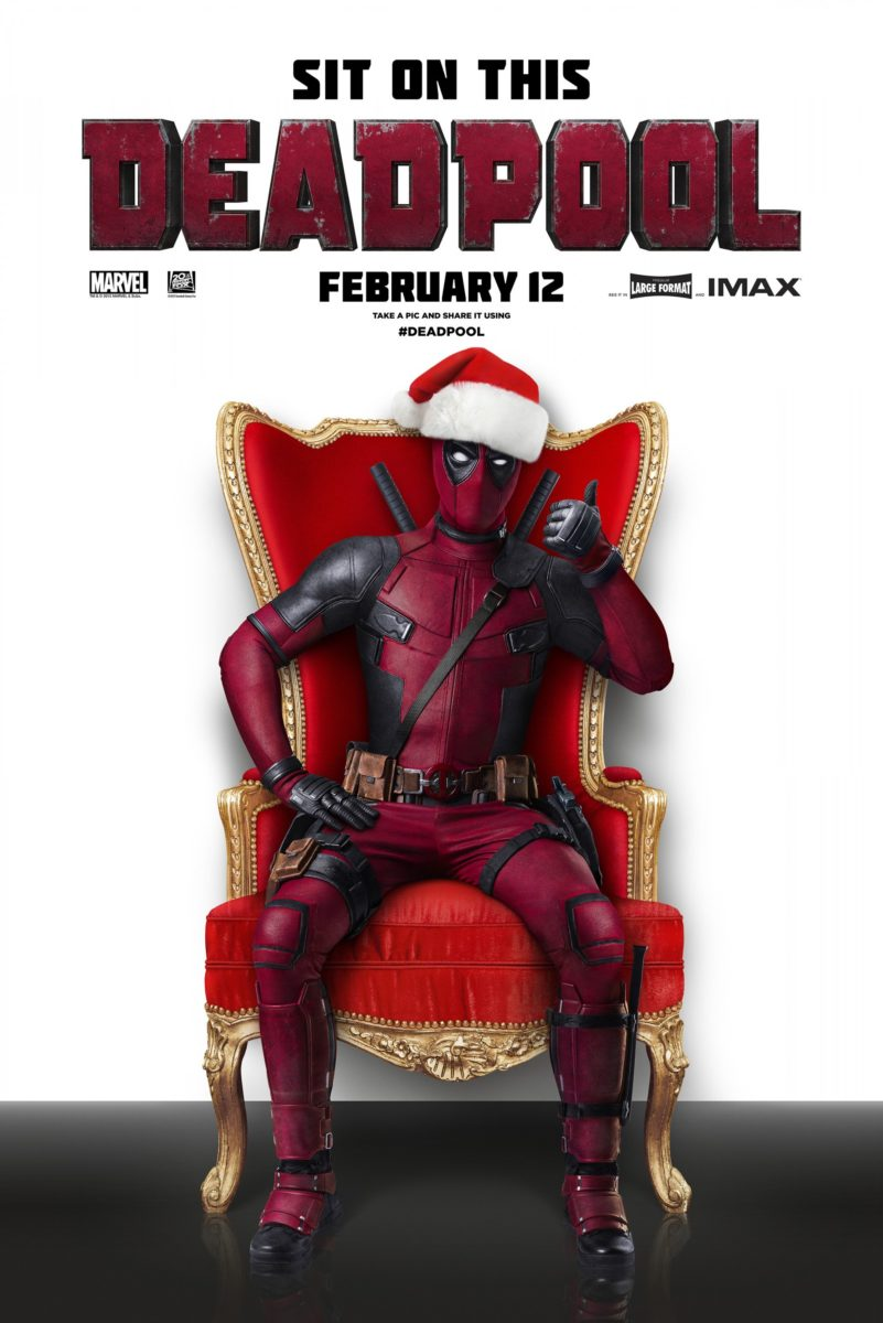Poster du film Deadpool réalisé par Tim Miller avec la tagline Sit on this Deadpool