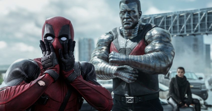 Photo du film Deadpool avec Deadpool et Colossus