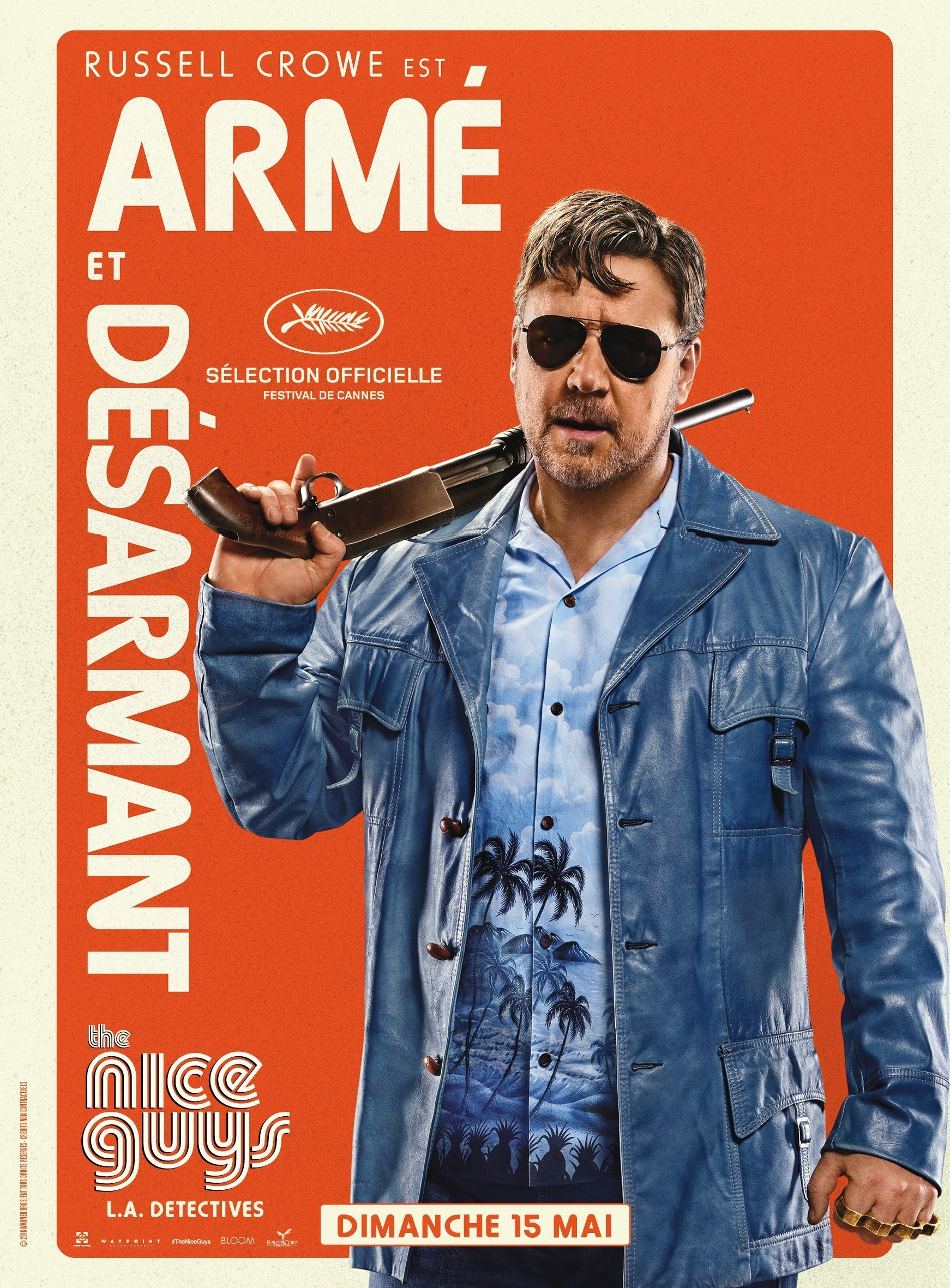Affiche de The Nice Guys avec Russell Crowe