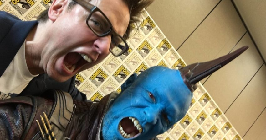 Photo de James Gunn et Michael Rooker au Comic-Con 2016