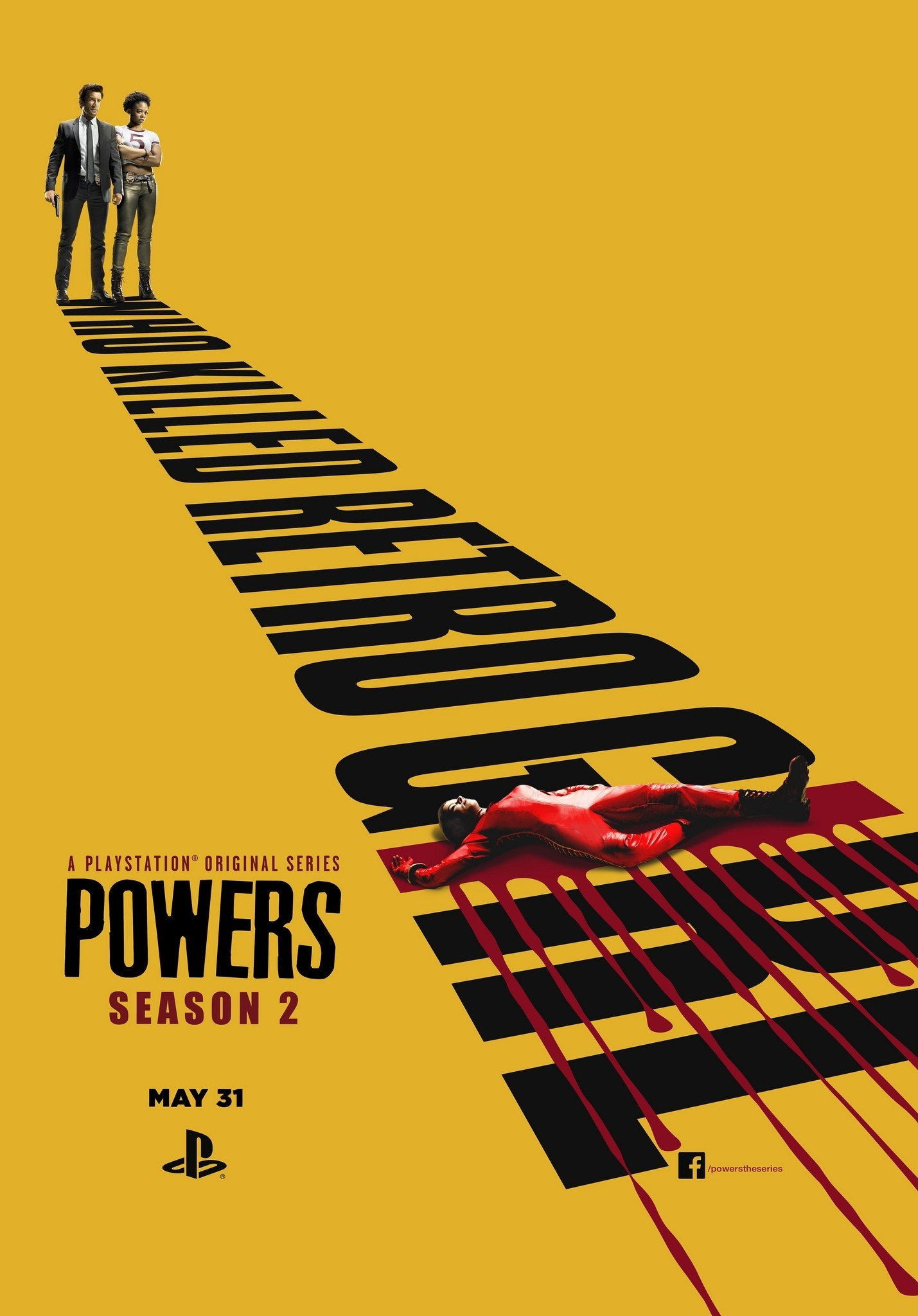 Poster de la saison 2 de Powers, Who killed Retro Girl ?