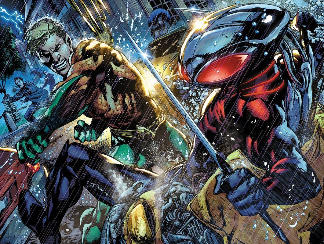 Image d'Aquaman contre Black Manta