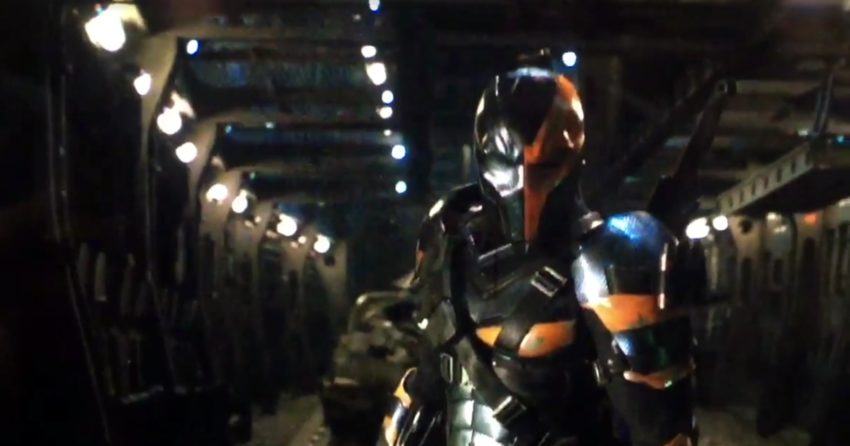 Photo de Deathstroke teasé par Ben Affleck