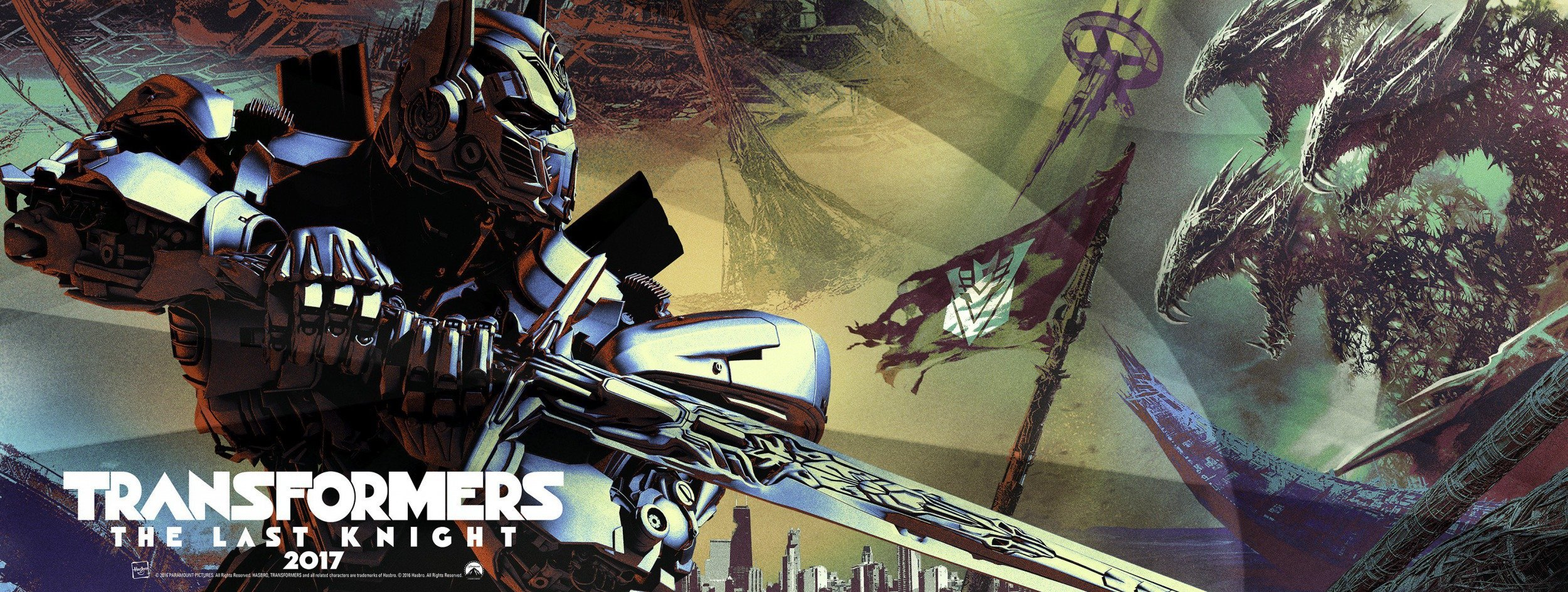 Bannière de Transformers: The Last Knight avec Optimus Prime