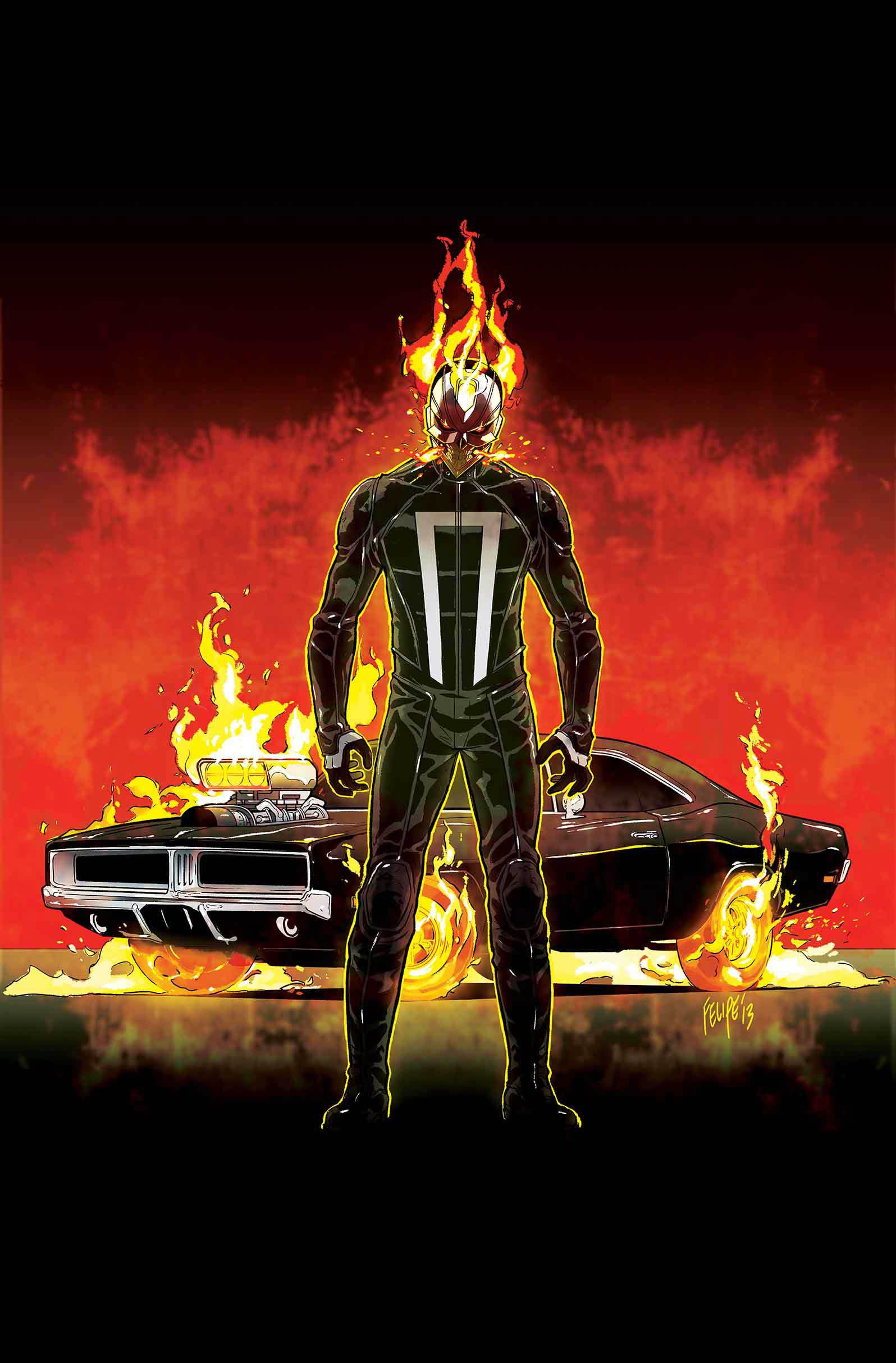 Couverture variante d'All New Ghost Rider par Smith