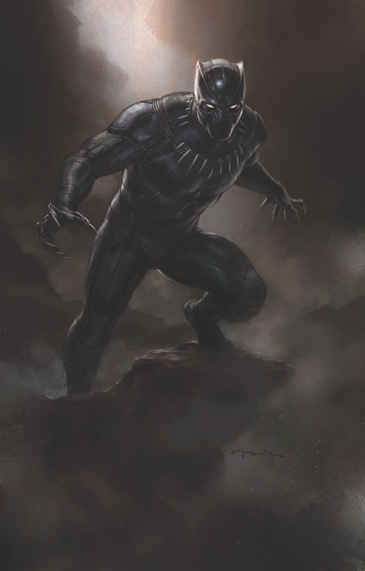 Concept art de Captain America: Civil War avec Black Panther
