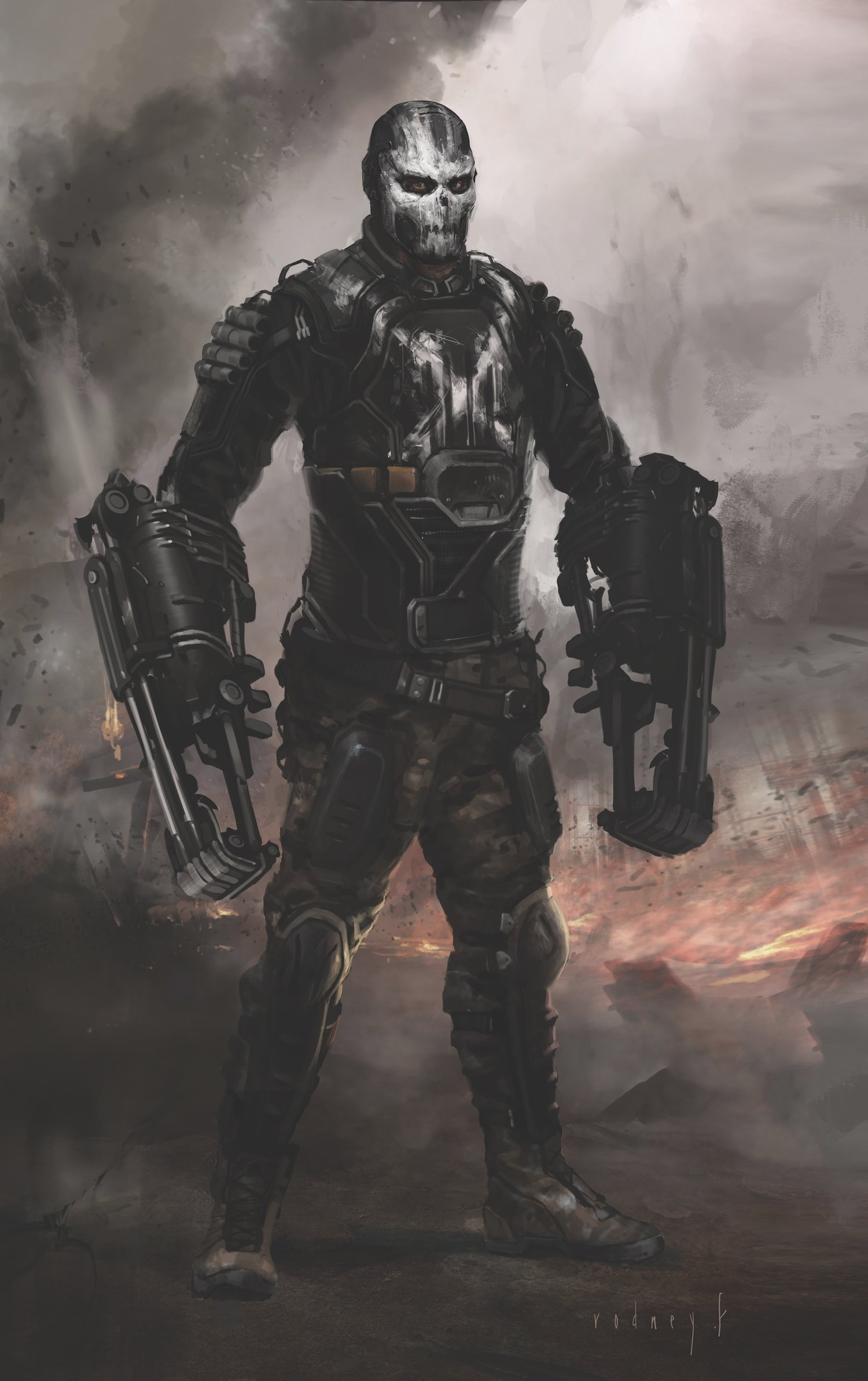 Concept art de Captain America: Civil War avec Crossbones
