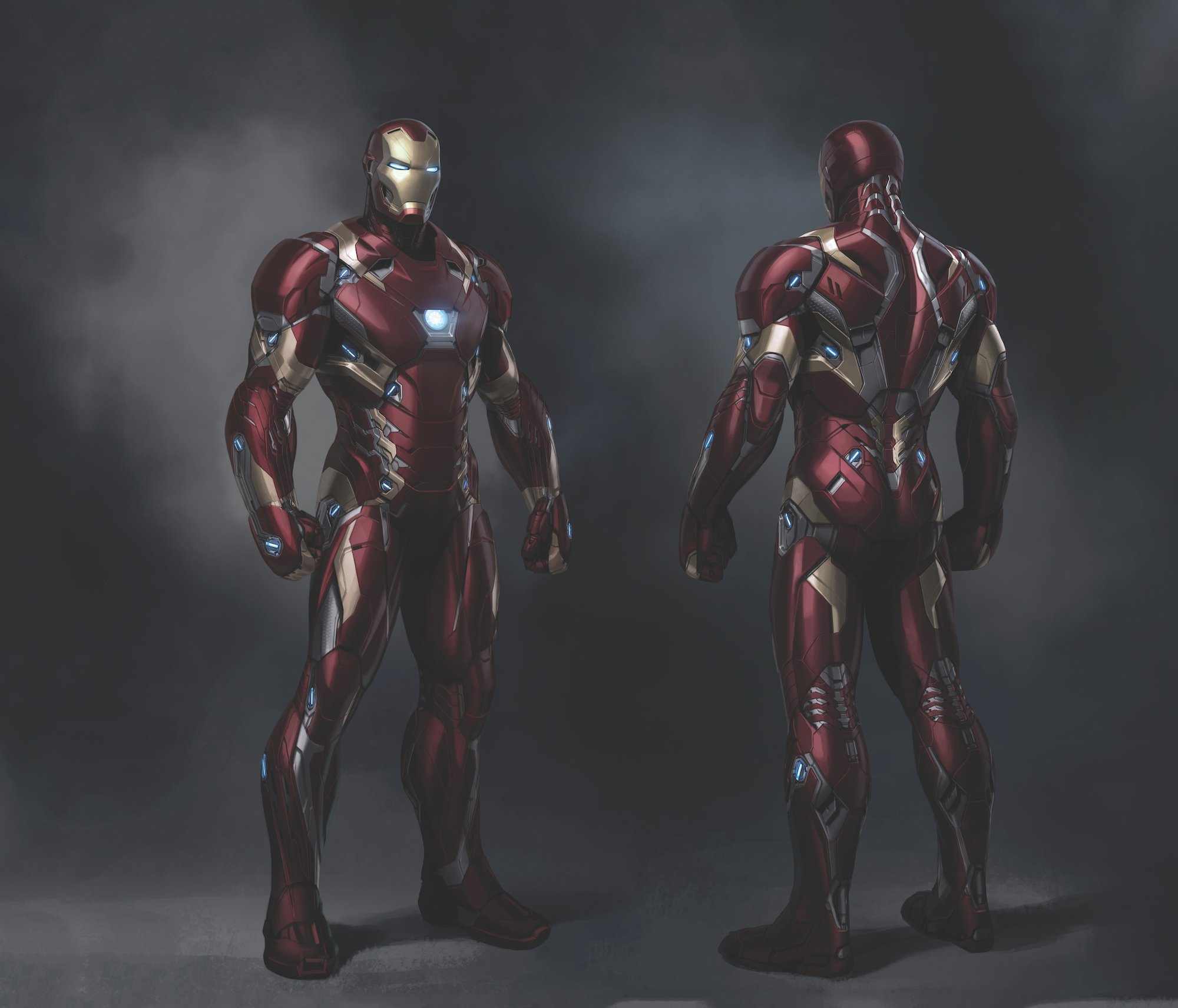Concept art de Captain America: Civil War avec Iron Man