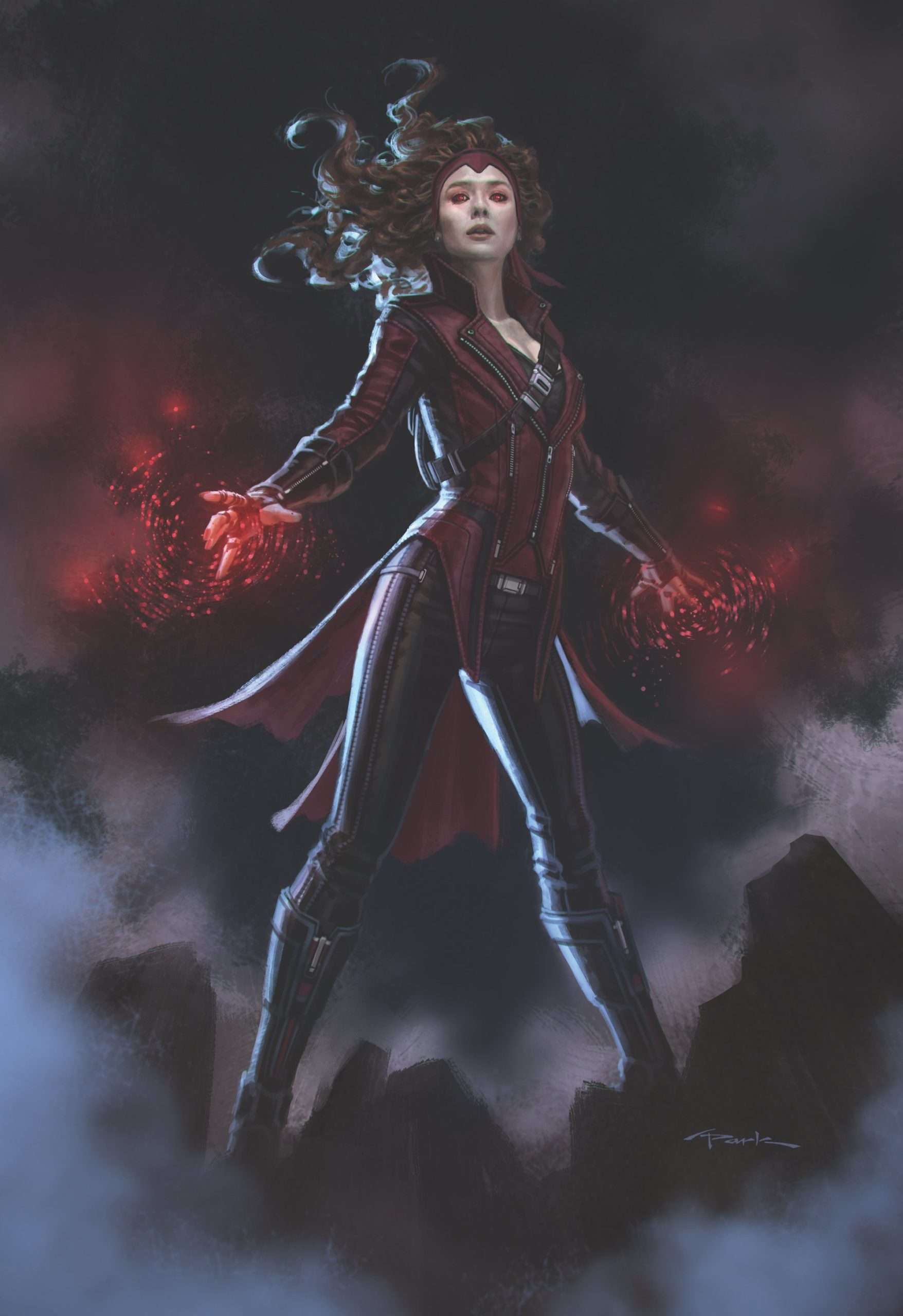 Concept art de Captain America: Civil War avec Scarlet Witch