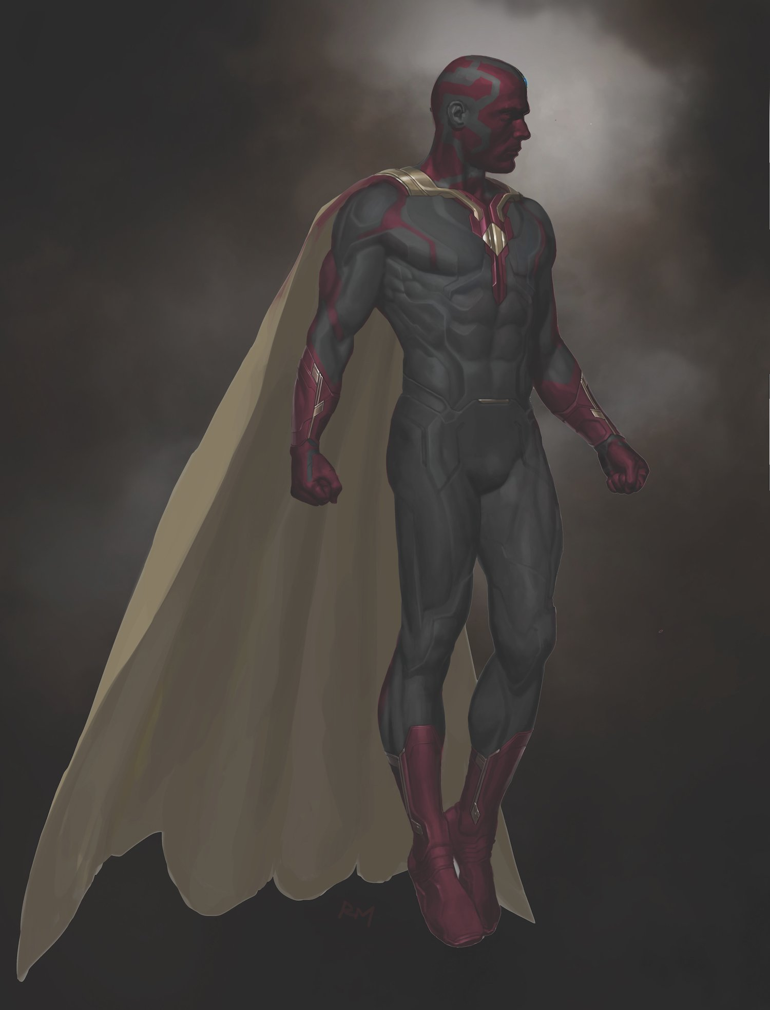 Concept art de Captain America: Civil War avec Vision