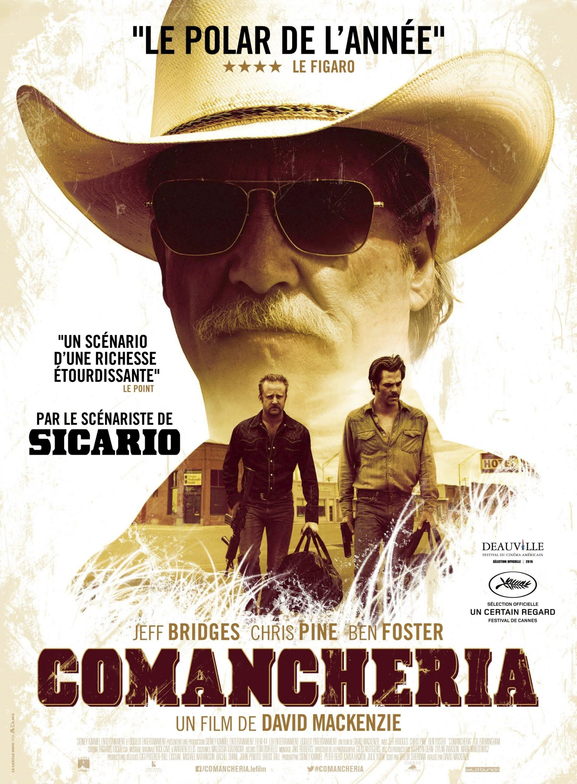 Affiche française de Comancheria (Hell or High Water en VO)