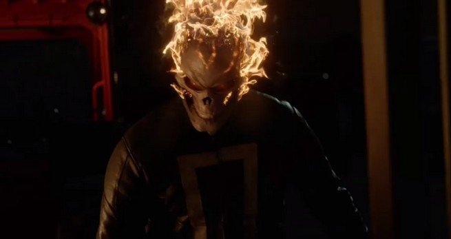 Photo du Ghost Rider dans le premier épisode de la saison 4 d'Agents of SHIELD
