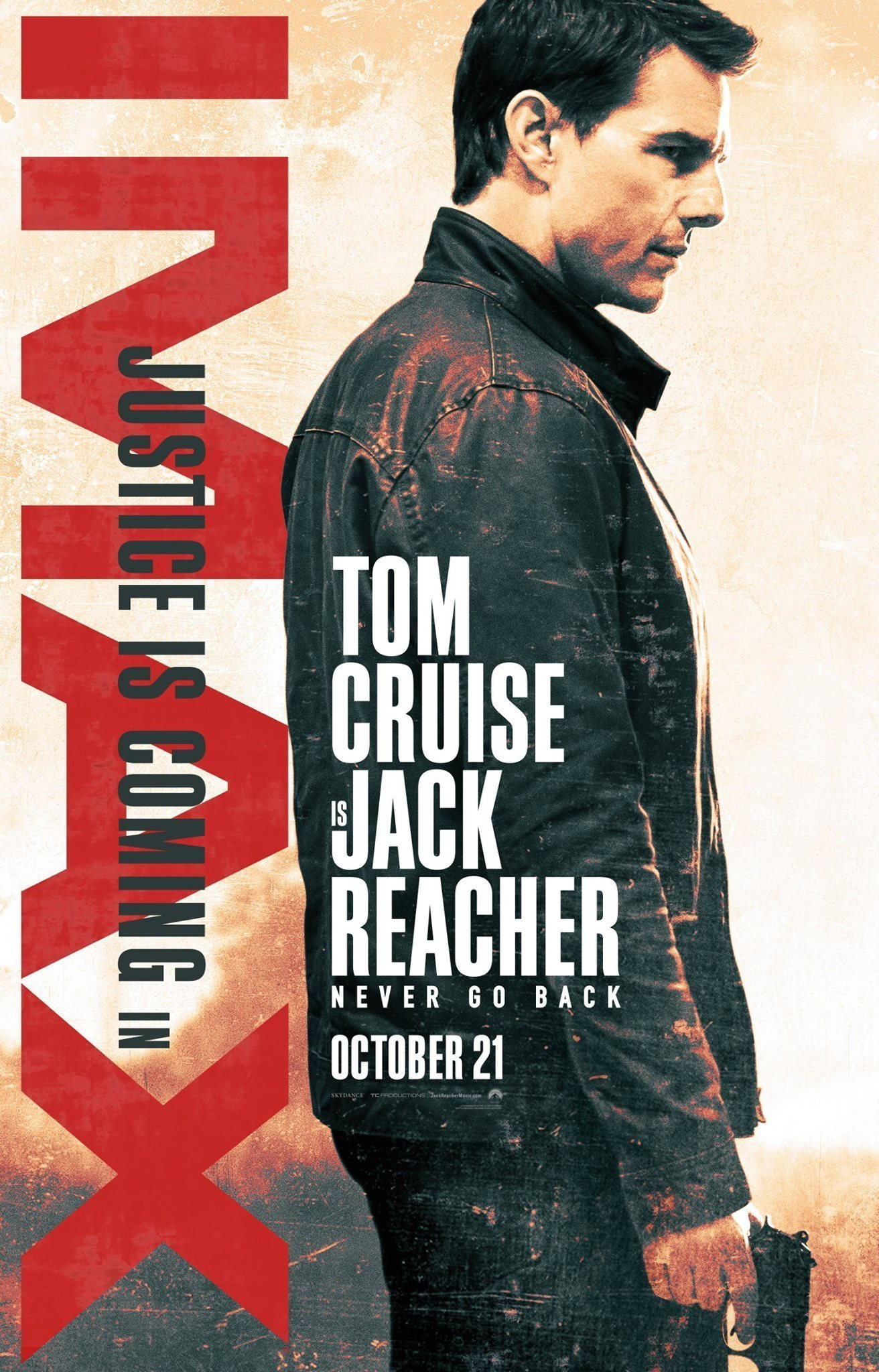 Poster IMAX de Jack Reacher: Never Go Back