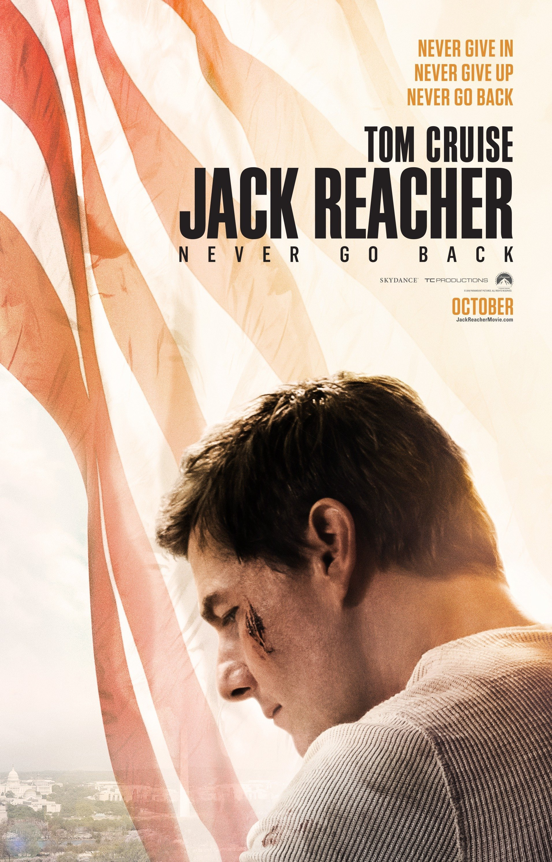 Poster teaser de Jack Reacher: Never Go Back