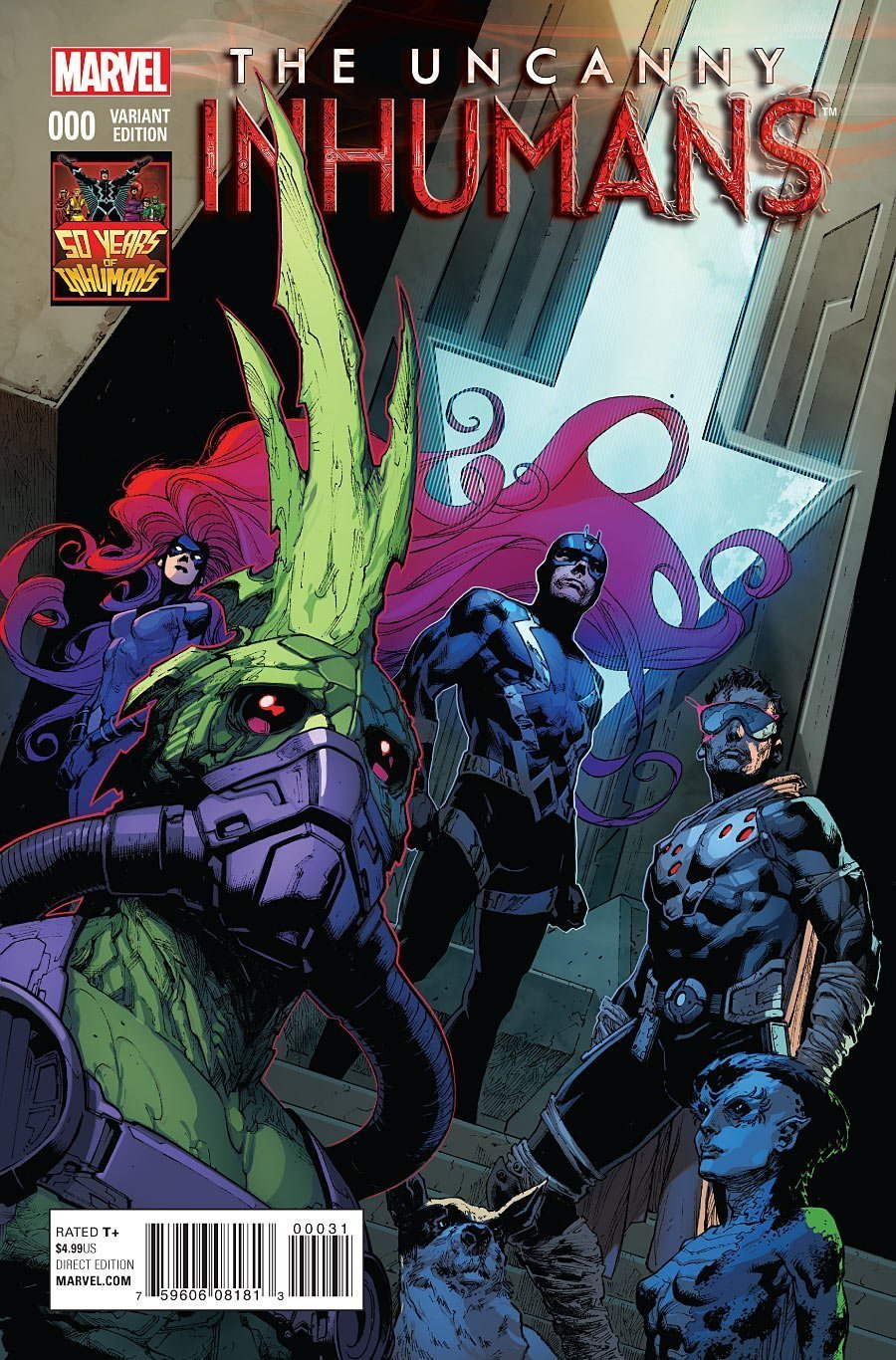 Couverture de The Uncanny Inhumans Vol. 1 0 (50 years of Inhumans variant)