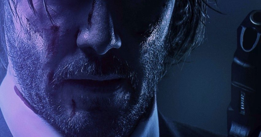 Poster de John Wick 2 avec la tagline 'Never stab the devil in the back'