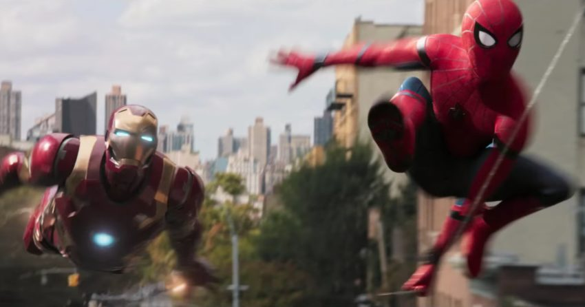 Photo de Spider-Man: Homecoming avec Iron Man et Tony Stark