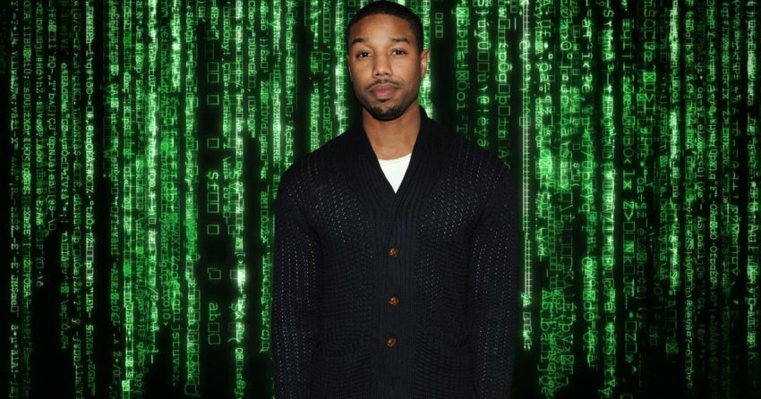 Photo montage pour Matrix avec Michael B. Jordan