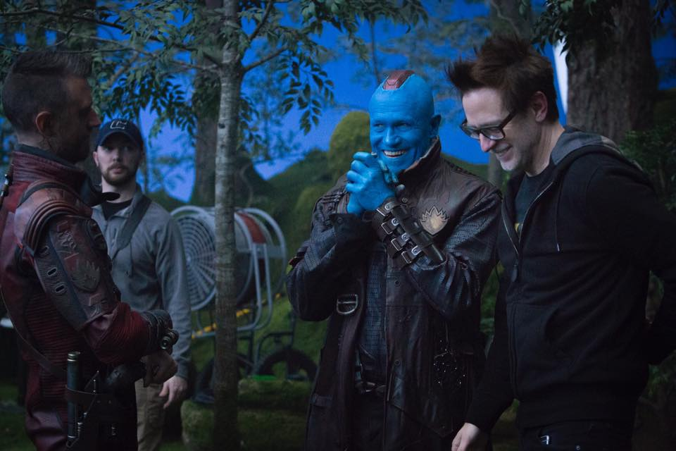 Sean et James Gunn et Michael Rooker.