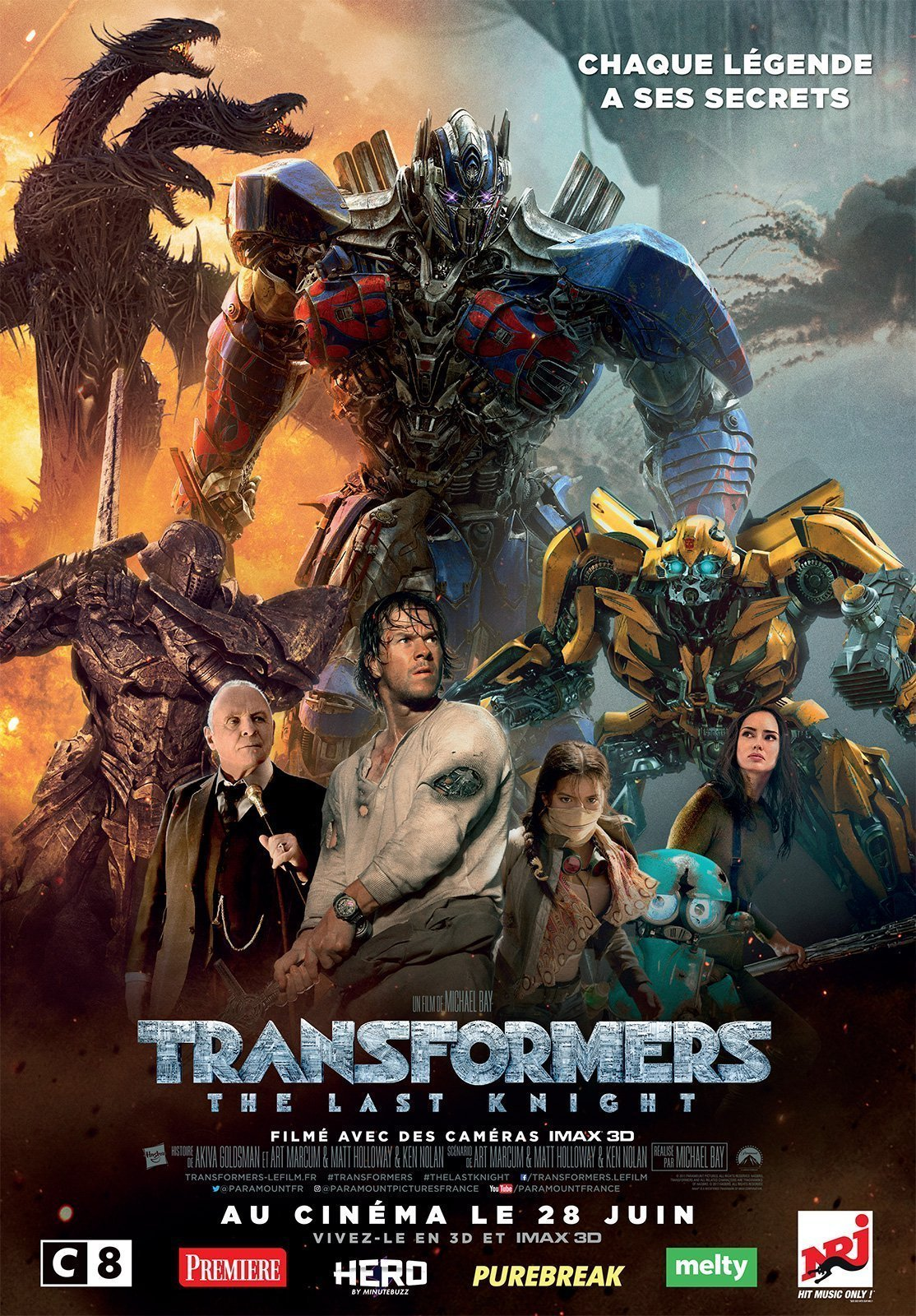 Affiche française du film Transformers: The Last Knight