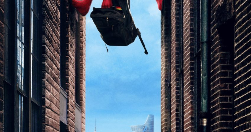 Poster de Spider-Man: Homecoming avec Spider-Man et son sac à dos