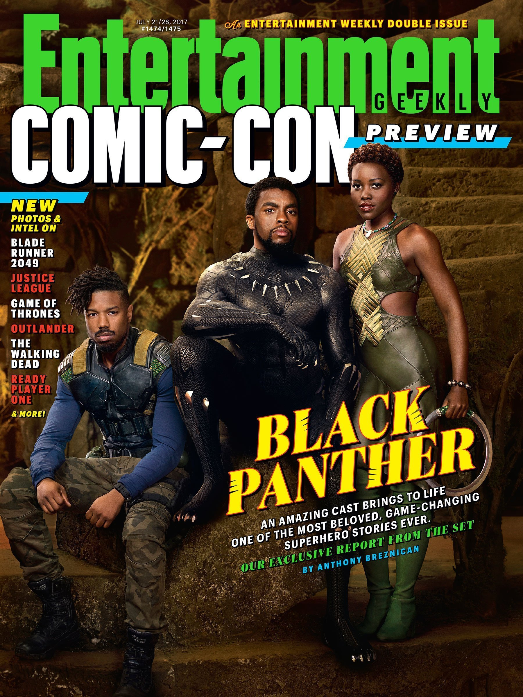 Couverture d'Entertainment Weekly avec le film Black Panther réalisé par Ryan Coogler