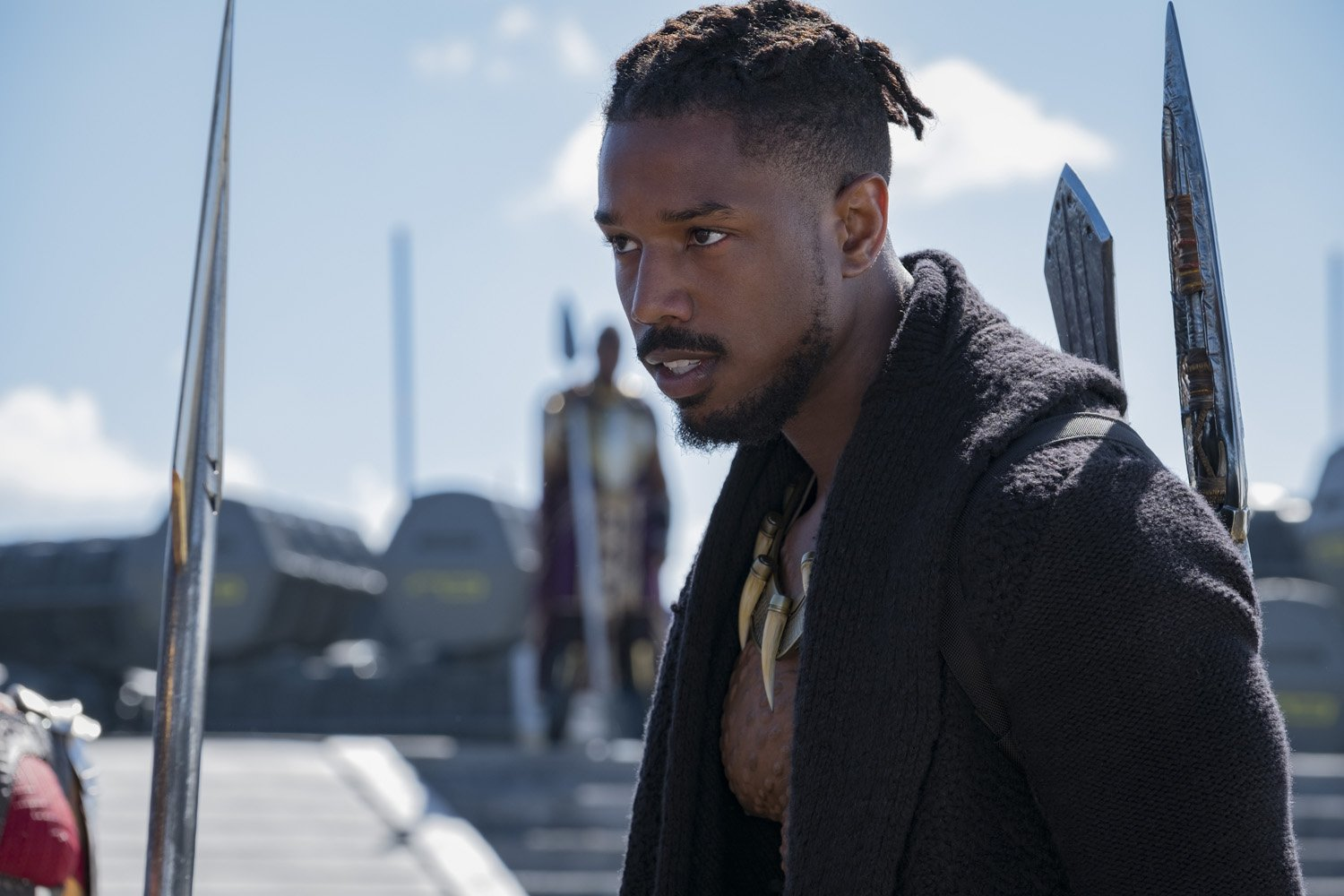Photo du film Black Panther réalisé par Ryan Coogler avec Killmonger (Michael B. Jordan)